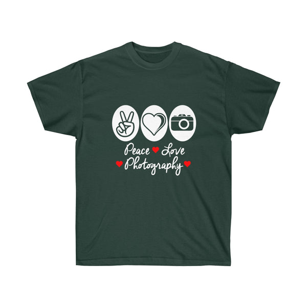 [custom_t-shirts] - [custom-t-shirt] - Peace Love and Photography - Classic Fit neatees