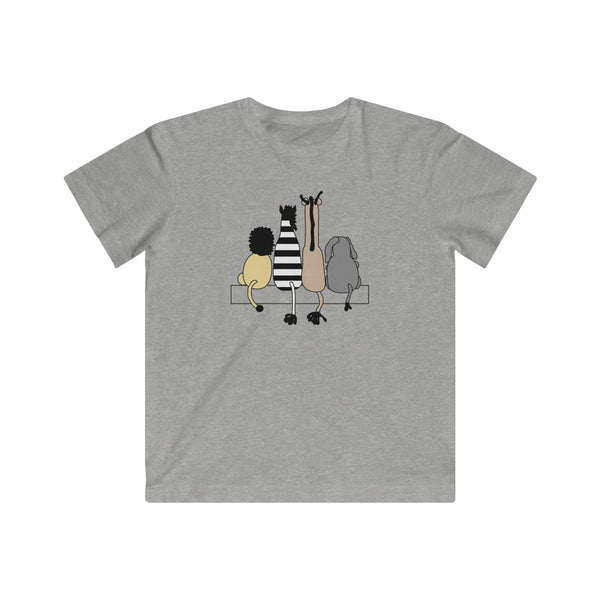 [custom_t-shirts] - [custom-t-shirt] - Four Friends Animal T-shirt for Kids - Fine Jersey Tee neatees