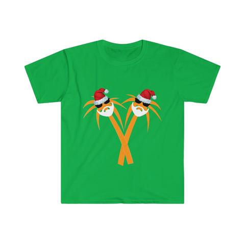 Palm Santa Ugly Christmas T-shirt - neateeshirts
