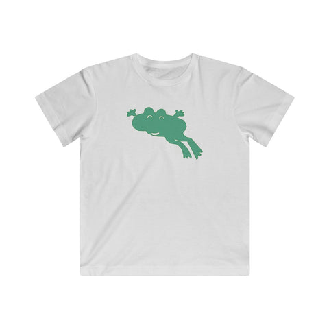 Happy Jumping Frog Animal T-shirt for Kids - Fine Jersey Tee