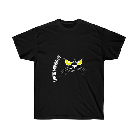 This Cat Hates Monday for Men and Women who Agree T-Shirt - neateeshirts