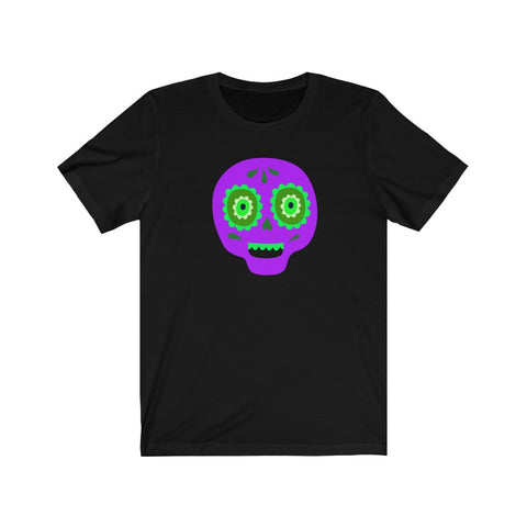 [custom_t-shirts] - [custom-t-shirt] - Calaveras Skull Painted for Dia de los Muertos The Day of the Dead - Purple neatees