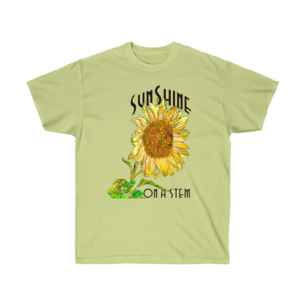 [custom_t-shirts] - [custom-t-shirt] - Sunshine on a Stem Sunflower T-Shirt neatees