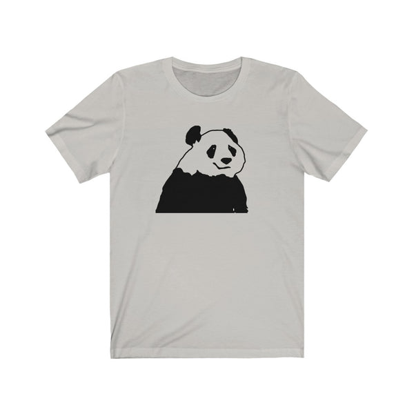 Chinese Giant Panda Line Drawing Unisex Jersey Short Sleeve Tee for Men and Women - neateeshirts