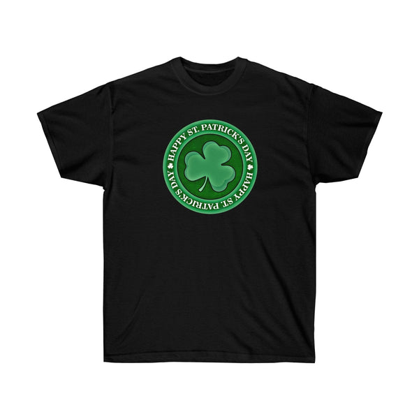 [custom_t-shirts] - [custom-t-shirt] - Happy St. Patrick's Day Circle Logo Design neatees