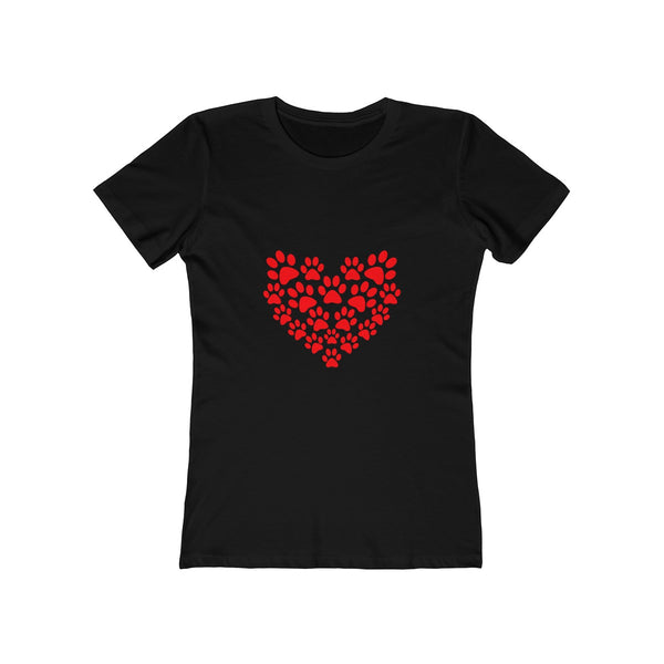 [custom_t-shirts] - [custom-t-shirt] - Heart and Cat Paw Prints made for Women neatees