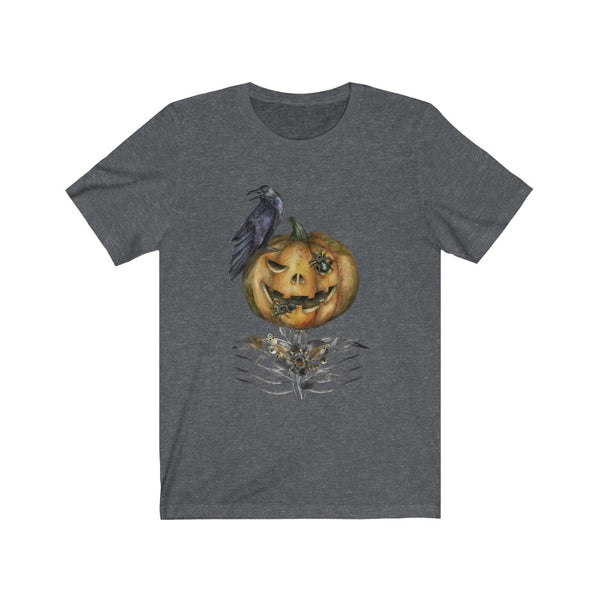[custom_t-shirts] - [custom-t-shirt] - Scary Jack-o-lantern with a Raven Halloween T-shirt for men and women neatees