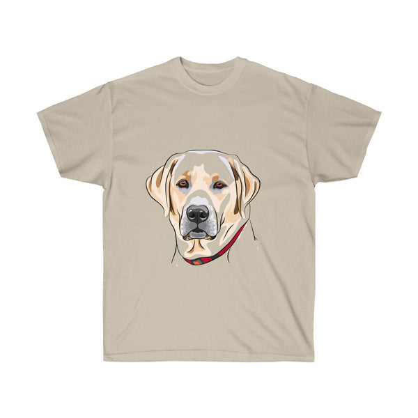 Labrador Portrait T-Shirt in Brown colors - neateeshirts