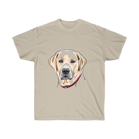 [custom_t-shirts] - [custom-t-shirt] - Labrador Portrait T-Shirt in Brown colors neatees