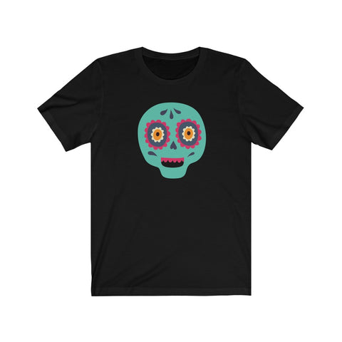 [custom_t-shirts] - [custom-t-shirt] - Calaveras Skull Painted for Dia de los Muertos The Day of the Dead - Tourquoise neatees