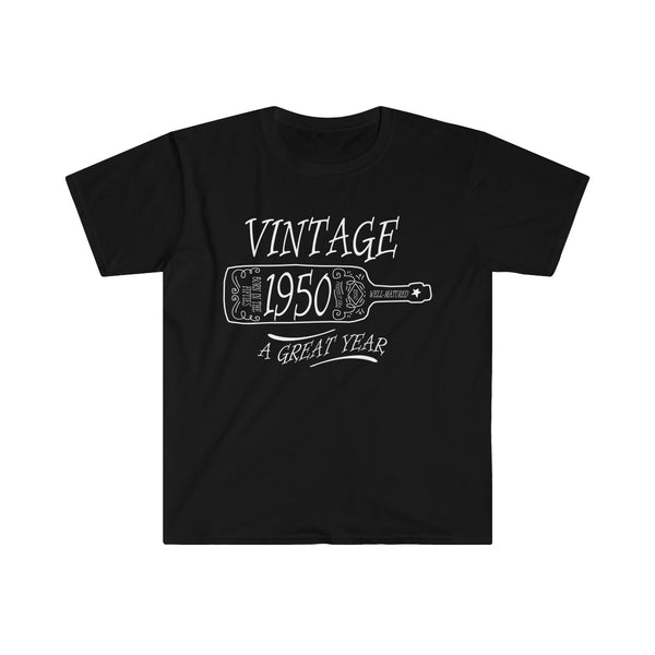 Vintage 1950 - A Great Year T-shirt (Euro Fit) - neateeshirts