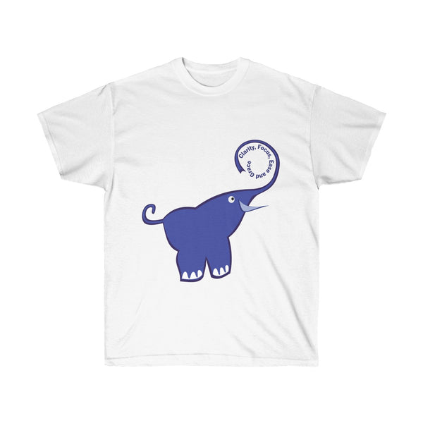 [custom_t-shirts] - [custom-t-shirt] - Clarity, Focus, Ease and Grace Purple Elephant neatees