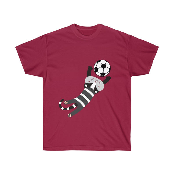 [custom_t-shirts] - [custom-t-shirt] - Soccer Cat for FIFA Men and Women Fan T-shirt neatees