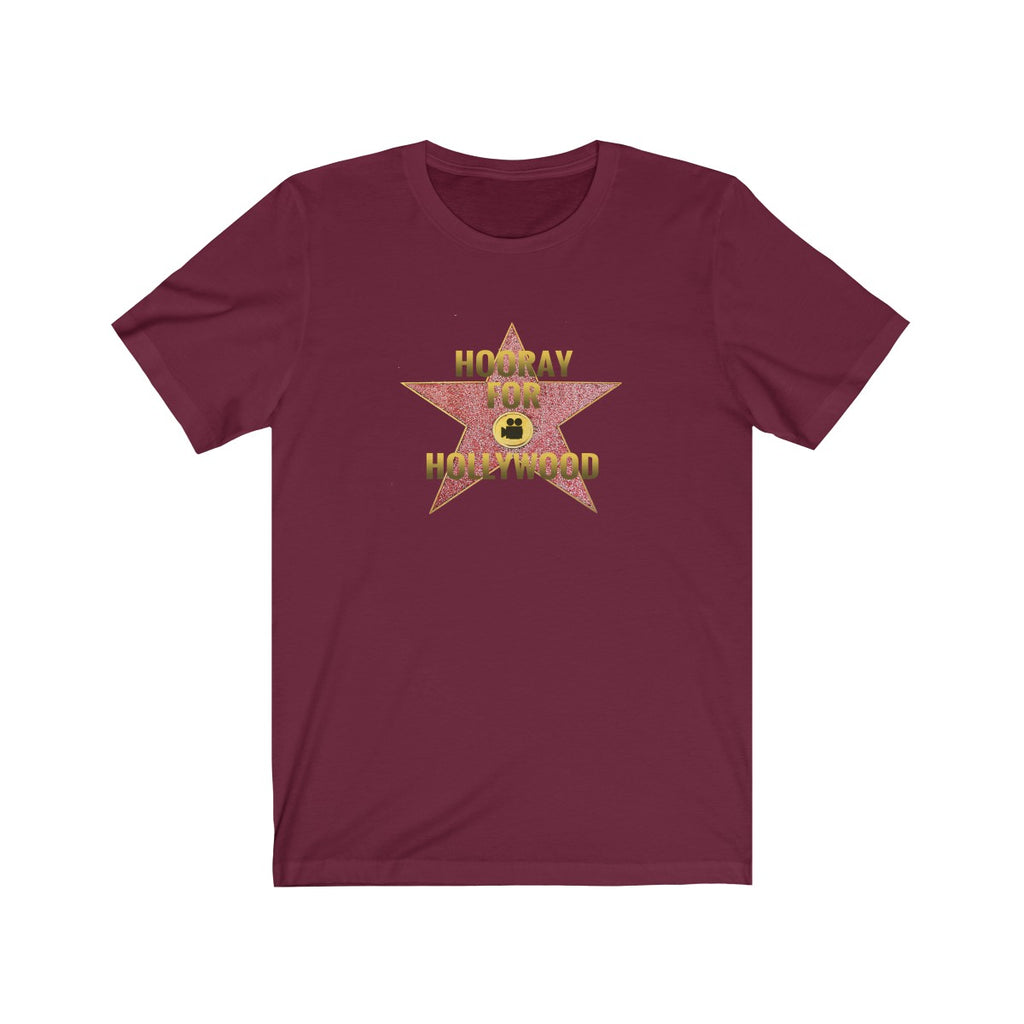 Hooray for Hollywood Star Art on Unisex Jersey Short Sleeve Tee for Men and Women - neateeshirts