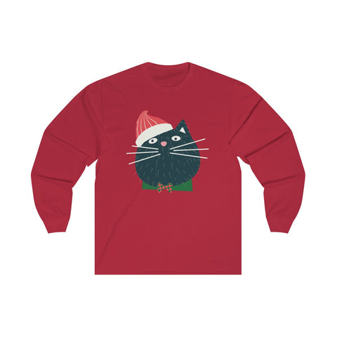 [custom_t-shirts] - [custom-t-shirt] - Santa Claws Cat Christmas Preshrunk Unisex Long Sleeve Tee neatees