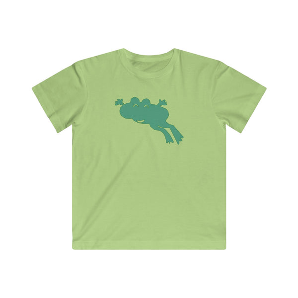 Happy Jumping Frog Animal T-shirt for Kids - Fine Jersey Tee - neateeshirts