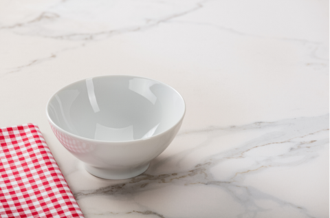 Marble Counter with Bowl and Napkin