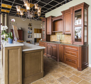 Columbia Cherry Chestnut Traditional Kitchen Cabinets