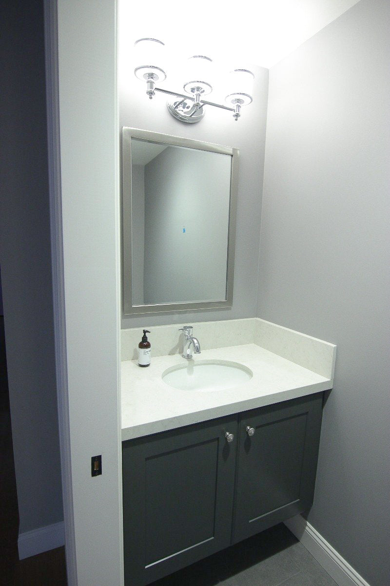 Floating Powder Room Vanity w/ Countertop