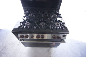 "Wolf 1989 36"" Six Burner Slide-In Range"