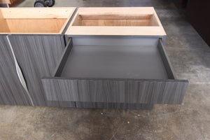 Cleaf Charcoal Wenge Floating Vanity