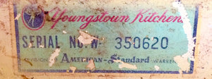 Youngstown Serial Number