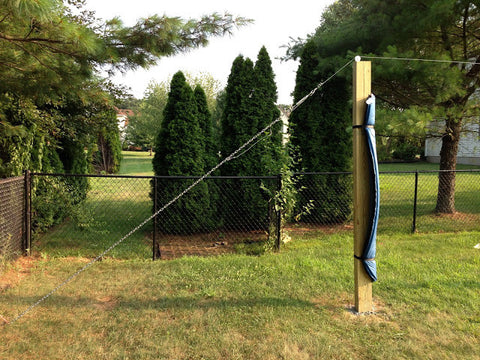 Zip Lines For Backyards build a zip line without trees