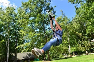 100 Foot X3-F100 Zip line Kit with Flexi-Seat and Disc Seat - Zip Line Stop