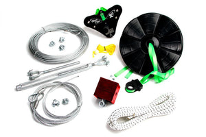 100 Foot X3-R100 Standard Zip line Kit with Disc Seat - Zip Line Stop