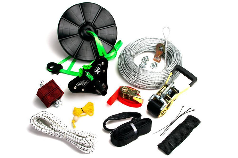 150 Foot X3-R150 Standard Zipline Kit with Disc Seat - Zip Line Stop