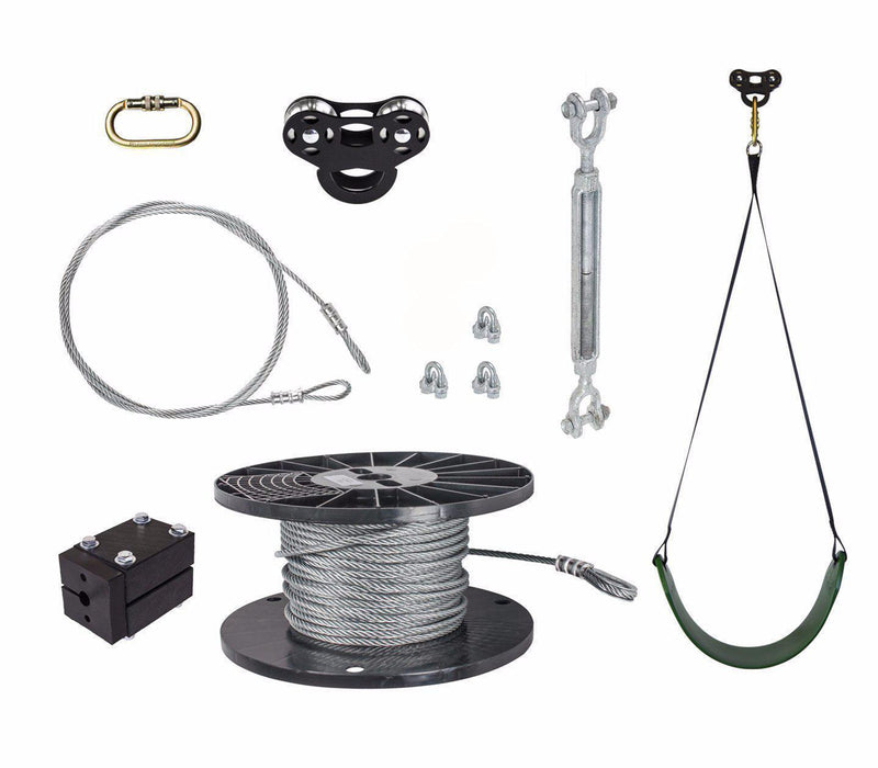 NEW! Black Raptor Zipline Kit - Zip Line Stop