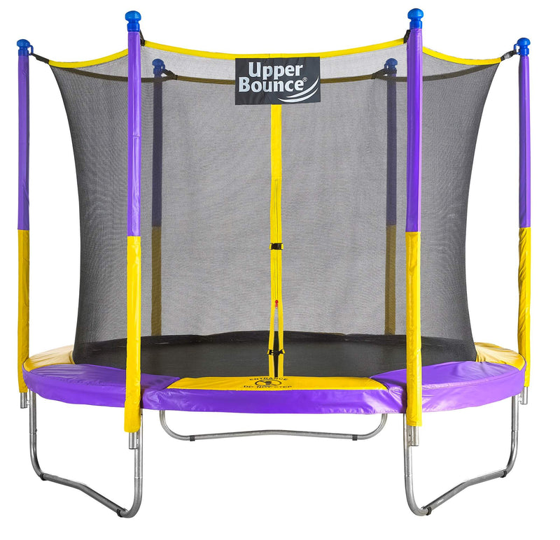 Upper Bounce Round Trampoline & Enclosure Set - Zip Line Stop