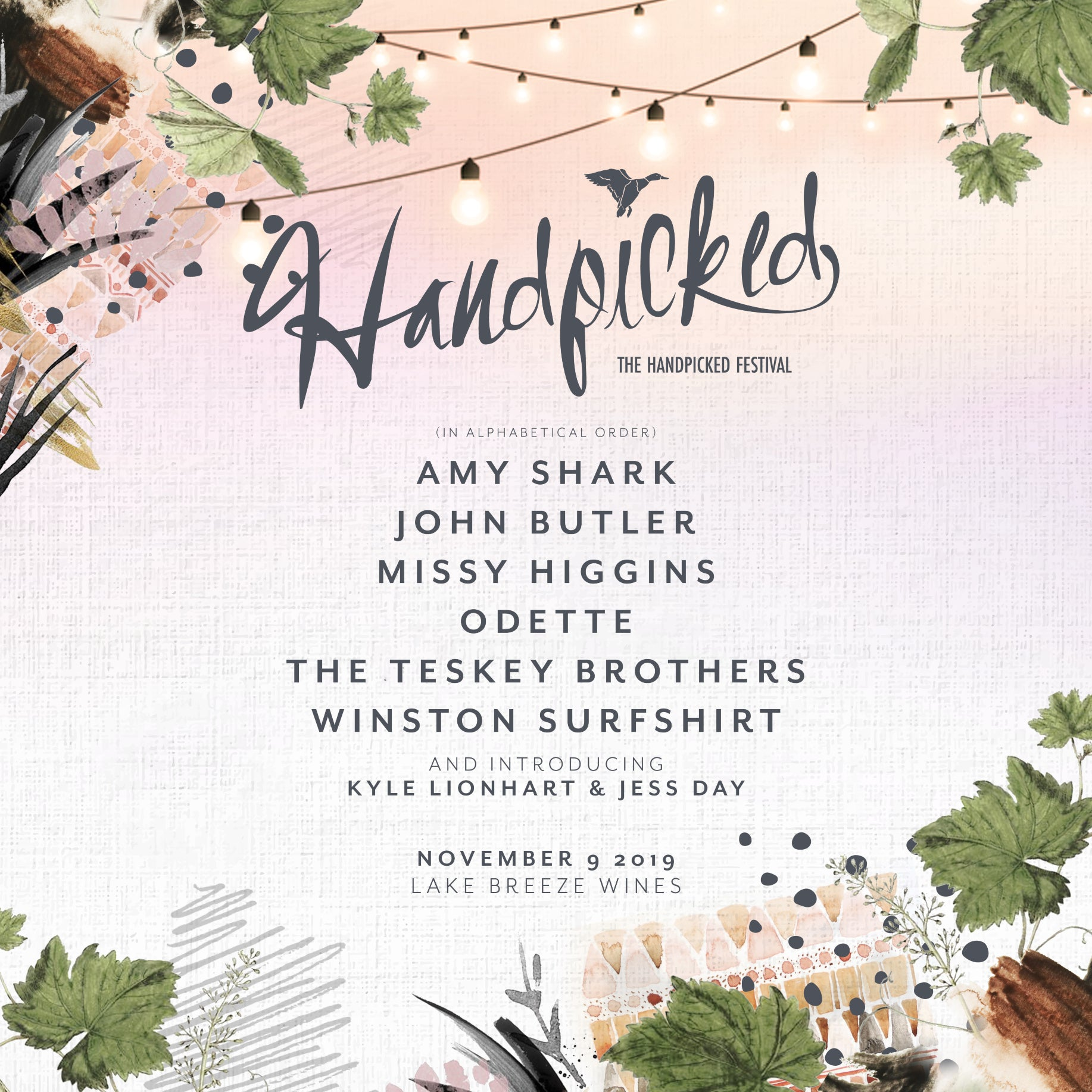 HANDPICKED LINE-UP ANNOUNCED