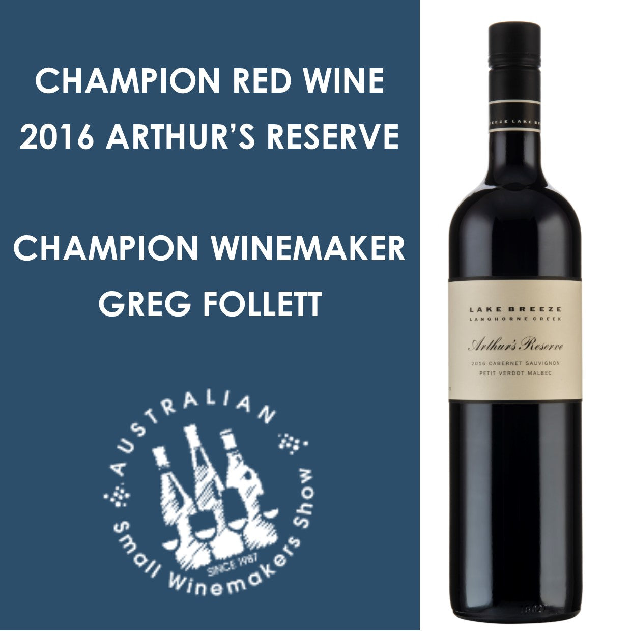champion red wine of show!