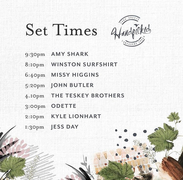 handpicked set times announced