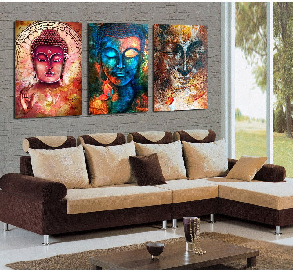 Buddha 3 Piece Canvas