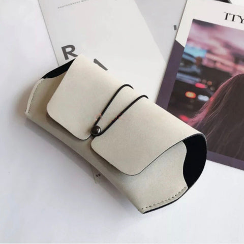 Sunglass Case- White Faux