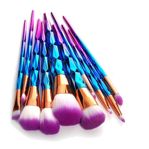 10 Mermaid Makeup Brush Set
