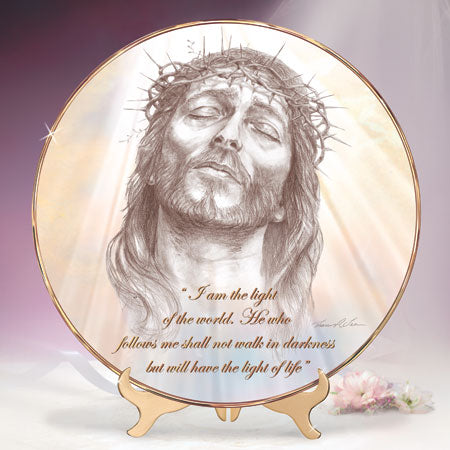 (J) * Jesus Plate * LIGHT OF THE WORLD 0102745004-T