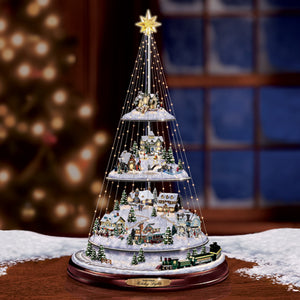 (CH) Thomas Kinkade Christmas Tree * Christmas Lights Tree * 0107821001-T SOLD OUT!
