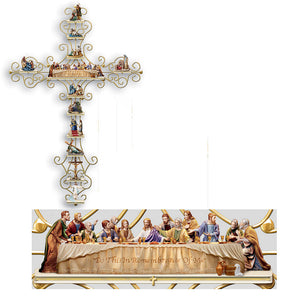 (C) HEIRLOOM LIMOGE CROSS - THE LAST SUPPER - 0108929013
