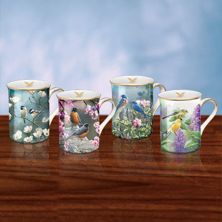 SWEET SONGBIRDS MUGS (4)