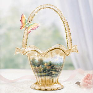 (HD) Thomas Kinkade LAMPLIGHT VILLAGE BOWL 0111565004-T