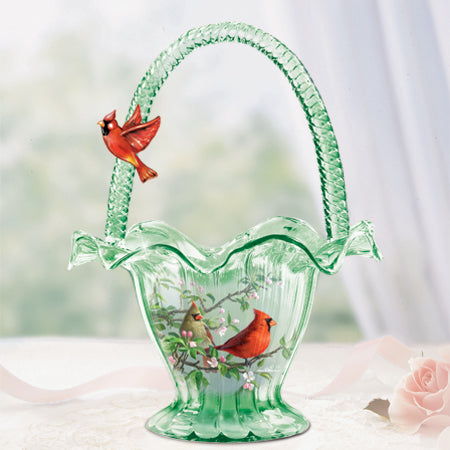 (HD) James Hautman's CARDINAL SERENADE ART GLASS 0114657001-T