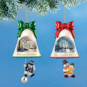 (CH) *Ringing in Christmas Ornaments* by Thomas Kinkade #5 (2) 0115342005-T