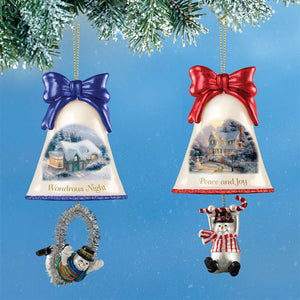 (CH) *Ringing in Christmas Ornaments* by Thomas Kinkade #6 (2) 0115342006-T