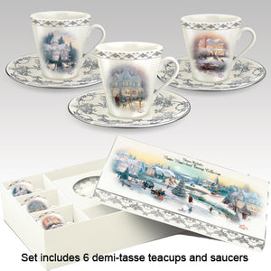 (TC) TEA CUPS - Thomas Kinkade WINTER ELEGANCE 0116500001-T