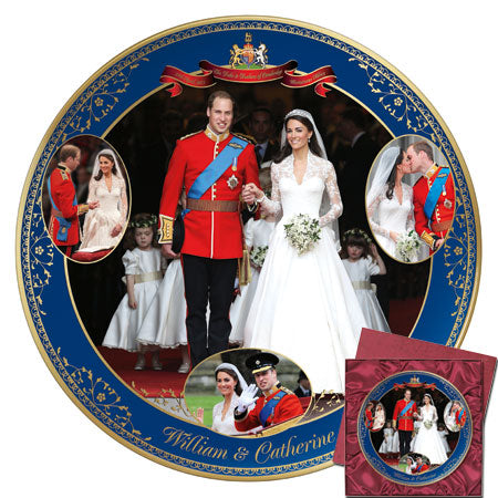 (D) ROYAL FAMILY: *PLATE* WILLIAM & CATHERINE 0116888001-T