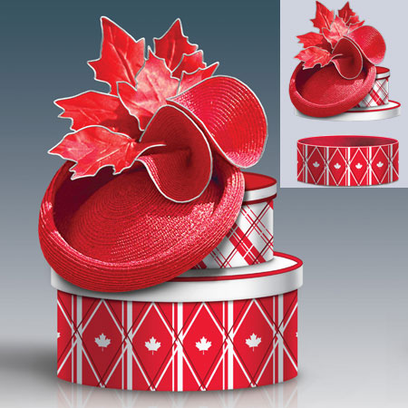 (D) ROYAL FAMILY: REGAL IN RED FASCINATOR 0117309001-T SOLD OUT!