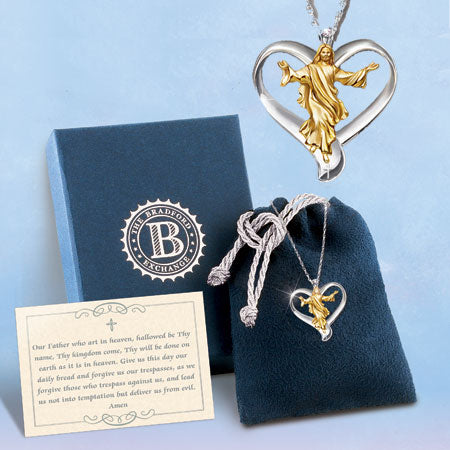 (RJH) OUR FATHER DIAMOND HEART PENDANT 0117966001-T